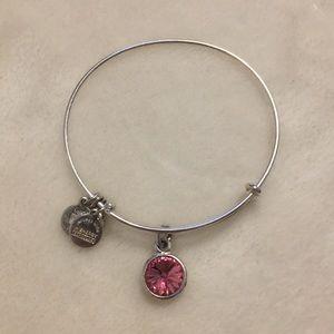Pink gem Alex and ani bracelet